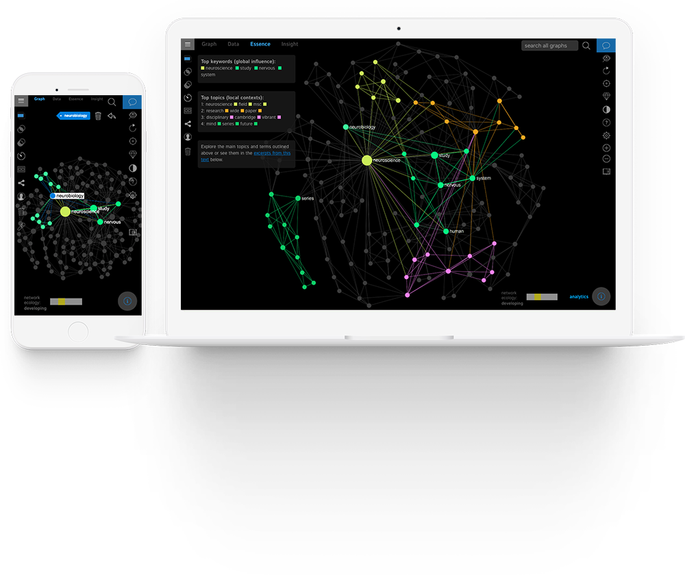 InfraNodus Text Network Visualization App
